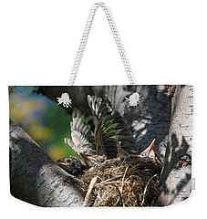 Hey - Can You Move Over? Weekender Tote Bag by Donna Kennedy
