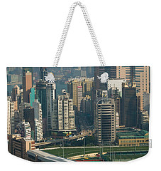 High Angle View Of A Horseracing Track Weekender Tote Bag by Panoramic Images