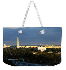 High Angle View Of A Monument Weekender Tote Bag by Panoramic Images