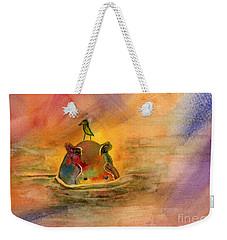 Hippo Birdie Weekender Tote Bag by Amy Kirkpatrick