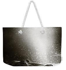 Hippo Blowing  Air Weekender Tote Bag by Johan Swanepoel