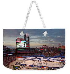 Hockey At The Ballpark Weekender Tote Bag by David Rucker