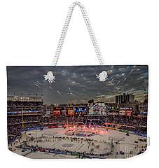 Hockey At Yankee Stadium Weekender Tote Bag by David Rucker