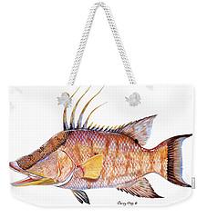 Hog Fish Weekender Tote Bag by Carey Chen