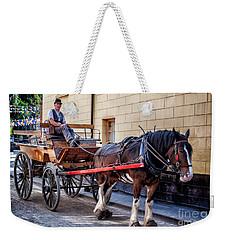 Horse And Cart Weekender Tote Bag by Adrian Evans