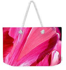 Hot Pink Weekender Tote Bag by Rona Black