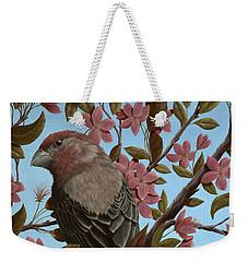 House Finch Weekender Tote Bag by Rick Bainbridge