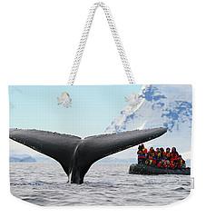Humpback Whale Fluke  Weekender Tote Bag by Tony Beck