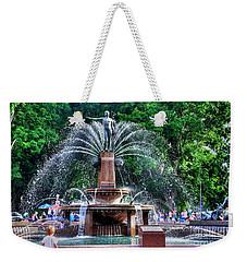 Hyde Park Fountain Weekender Tote Bag by Kaye Menner
