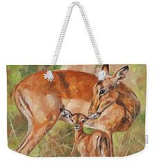 Impala Antelop Weekender Tote Bag by David Stribbling