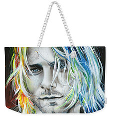 Kurt Cobain - ' In Debt For My Thirst ' Weekender Tote Bag by Christian Chapman Art