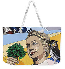 In Honor Of Hillary Clinton Weekender Tote Bag by Konni Jensen