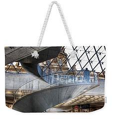 Inside The Louvre Museum In Paris Weekender Tote Bag by Marianna Mills