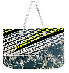 Integration Of Abstract And Pattern Weekender Tote Bag by Gary Slawsky