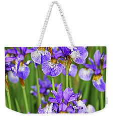 Irises Weekender Tote Bag by Elena Elisseeva