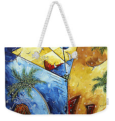 Island Martini  Original Madart Painting Weekender Tote Bag by Megan Duncanson
