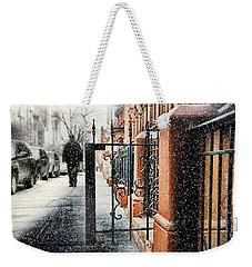 It Snows In Harlem Weekender Tote Bag by Diana Angstadt
