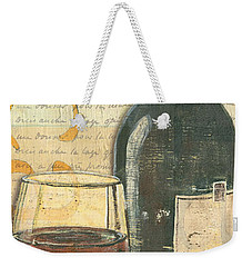 Italian Wine And Grapes Weekender Tote Bag by Debbie DeWitt