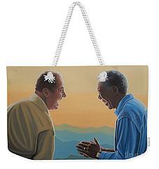 Jack Nicholson And Morgan Freeman Weekender Tote Bag by Paul Meijering