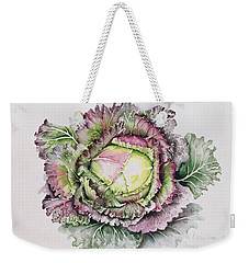 January King Cabbage  Weekender Tote Bag by Alison Cooper