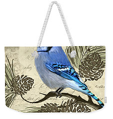Jeweled Blue Weekender Tote Bag by Lourry Legarde