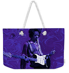Jimi Hendrix Purple Haze Weekender Tote Bag by David Dehner