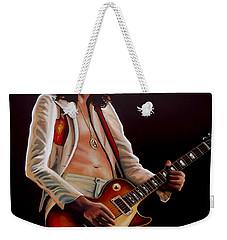 Jimmy Page In Led Zeppelin Painting Weekender Tote Bag by Paul Meijering