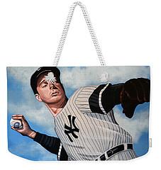 Joe Dimaggio Weekender Tote Bag by Paul Meijering