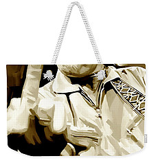 Johnny Cash Artwork 2 Weekender Tote Bag by Sheraz A