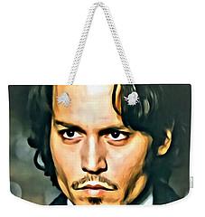 Johnny Depp Portrait Weekender Tote Bag by Florian Rodarte