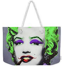 Joker Marilyn With Surreal Pipe Weekender Tote Bag by Filippo B