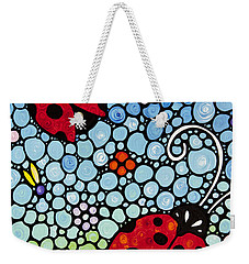 Joyous Ladies Ladybugs Weekender Tote Bag by Sharon Cummings