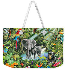Jungle Weekender Tote Bag by Mark Gregory