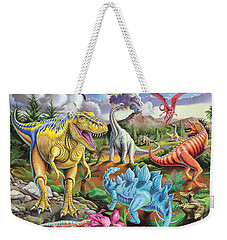 Jurassic Jubilee Weekender Tote Bag by Mark Gregory