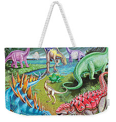 Jurassic Swamp Variant 1 Weekender Tote Bag by Mark Gregory