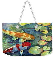 Koi Garden Weekender Tote Bag by Hailey E Herrera