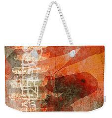 Koi In Orange Weekender Tote Bag by Carol Leigh