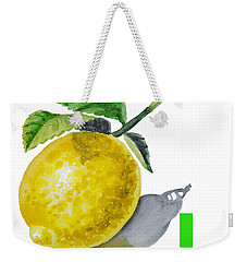 L Art Alphabet For Kids Room Weekender Tote Bag by Irina Sztukowski