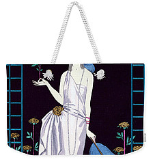 'la Roseraie' Fashion Design For An Evening Dress By The House Of Worth Weekender Tote Bag by Georges Barbier