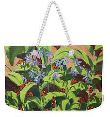 Ladybirds Weekender Tote Bag by Andrew Macara