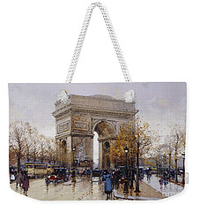 L'arc De Triomphe Paris Weekender Tote Bag by Eugene Galien-Laloue