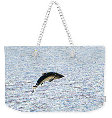 Leaping Chinook Weekender Tote Bag by Mike  Dawson