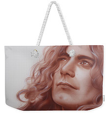 Robert Plant - ' Leaves Are Falling All Around ' Weekender Tote Bag by Christian Chapman Art