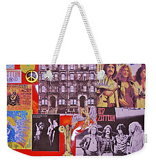 Led Zeppelin  Collage Number Two Weekender Tote Bag by Donna Wilson