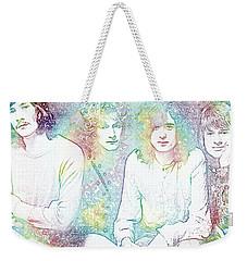 Led Zeppelin Tie Dye Weekender Tote Bag by Dan Sproul