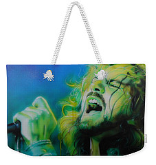 Eddie Vedder - ' Lemon Yellow Sun ' Weekender Tote Bag by Christian Chapman Art