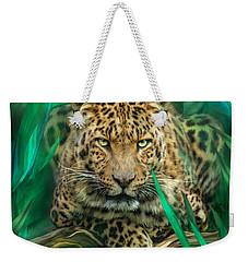 Leopard - Spirit Of Empowerment Weekender Tote Bag by Carol Cavalaris