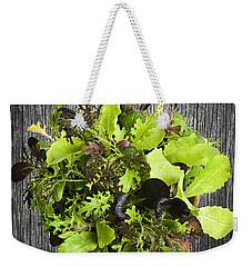 Lettuce Seedlings Weekender Tote Bag by Elena Elisseeva