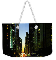 Lexington Avenue, Cityscape, Nyc, New Weekender Tote Bag by Panoramic Images