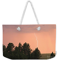 Weekender Tote Bag featuring the photograph Lighting Strikes In Custer State Park by Bill Gabbert